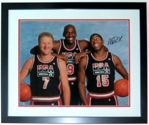 Magic Johnson Signed 1992 Dream Team 16x20 Photo - BSI COA Authenticated - Professionally Framed