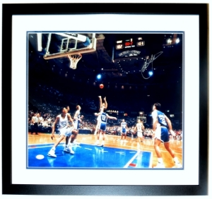 Christian Laettner Signed 1992 Duke Blue Devils The Shot 16x20 Photo -JSA COA Authenticated - Professionally Framed