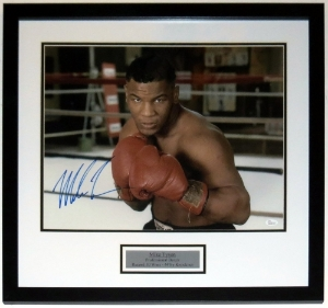 Mike Tyson Signed 16x20 Photo - PSA DNA COA Authenticated - Professionally Framed & Plate