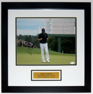 Jordan Spieth Signed Masters 11x14 Photo - JSA COA Authenticated - Professionally Framed & Plate