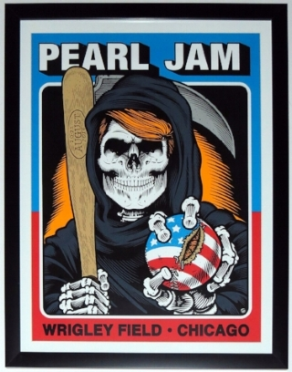 Pearl Jam Wrigley Field 2016 Tour Poster - Professionally Framed 28x18