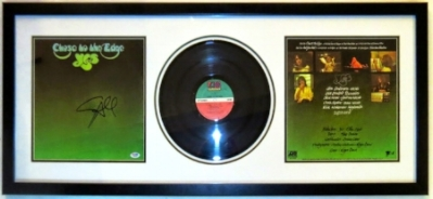 Steve Howe Signed Yes Close To The Edge Album Compilation - PSA DNA COA Authenticated- Professionally Framed 38x16
