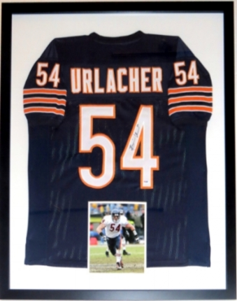 Brian Urlacher Signed Chicago Bears Jersey - PSA DNA COA Authenticated - Professionally Framed & 8x10 Photo - 32x42