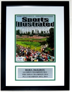 Rory Mcilroy Signed Sports Illustrated Magazine - PSA DNA COA Authenticated - Custom Framed & Plate