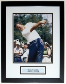 Arnold Palmer Signed 11x14 Photo - JSA COA Authenticated - Professionally Framed & Plate