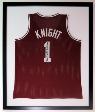 Bobby Knight Signed Indiana Hoosiers Jersey -JSA COA Authenticated - Professionally Framed 34x42