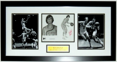 Pete Maravich Signed 8x10 Photo Compilation - JSA COA Authenticated - Professionally Framed & Plate 34x16