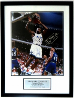 Shaquille O'Neal Signed 16x20 Photo - PSA DNA COA Authenticated - Professionally Framed & Plate