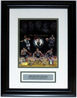 Boston Celtics Team Signed 8x10 Photo - BSI COA Authenticated - Professionally Framed with Plate