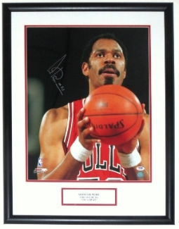 Artis Gilmore Signed Chicago Bulls 16x20 Photo- PSA DNA COA Authenticated - Professionally Framed & Plate