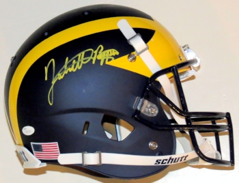 Jabrill Peppers Signed Michigan Wolverines Helmet - JSA Authenticated