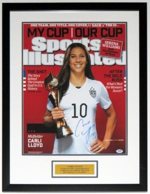 Carli Lloyd Signed 16x20 Photo - PSA DNA COA Authenticated - Professionally Framed & Plate