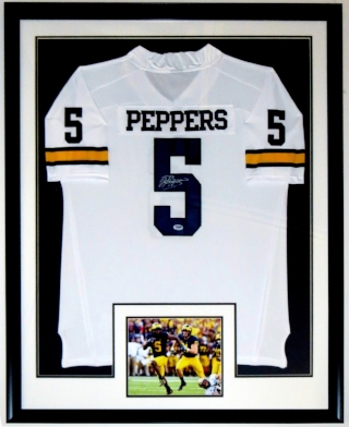 Jabrill Peppers Signed Michigan Wolverines Jersey - PSA DNA COA Authenticated -Custom Framed & 8x10 Photo 34x42