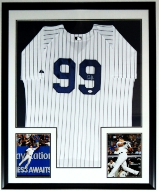 Aaron Judge Signed New York Yankees Jersey- JSA COA Authenticated - Professionally Framed & 2 8x10 Photo 34x42