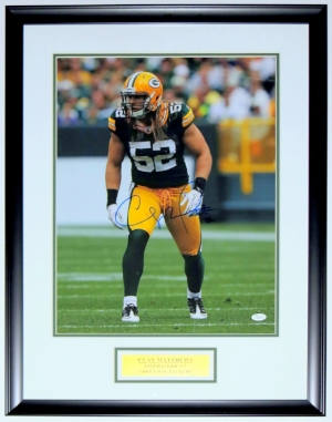 Clay Matthews Signed Packers 16x20 Photo - JSA COA Authenticated - Professionally Framed