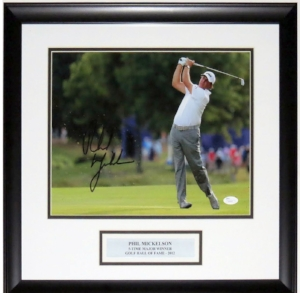 Phil Mickelson Signed 11x14 Photo - JSA COA Authenticated - Professionally Framed & Plate