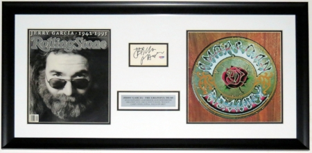 Jerry Garcia Signed Grateful Dead Album & Photo Compilation - PSA DNA COA Authenticated  - Professionally Framed & Plate 32x16