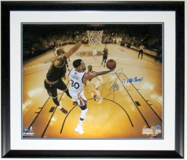 Stephen Curry Autographed 20x24 Golden State Warriors 2017 Finals Photo - Steiner Sports COA #'d 30/30 - Professionally Framed