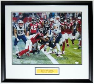 Danny Amendola Signed New England Patriots Super Bowl 16x20 Photo - JSA COA Authenticated - Professionally Framed & Plate