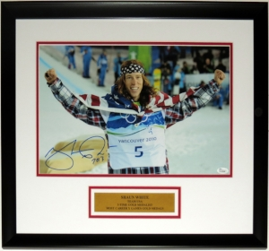 Shaun White Signed Team USA Olympics 12x18 Photo - JSA COA Authenticated - Professionally Framed & 2018 Plate