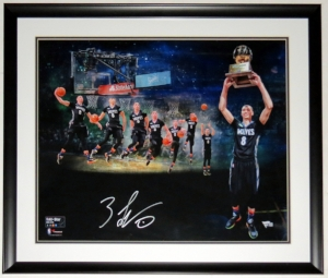 Zach Lavine Signed Slam Dunk Championship 20x24 Photo - Fanatics COA Authenticated - Custom Framed