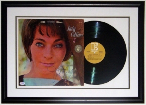 Judy Collins Signed #3 Album & Record - PSA DNA COA Authenticated - Professionally Framed