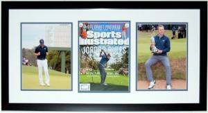Jordan Spieth Signed Sports Illustrated & Major Championship Photo Compilation - JSA COA Authenticated - Professionally Framed 34x16