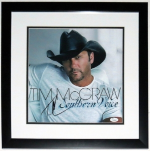 Tim McGraw Signed Southern Voice Album - JSA COA Authenticated - Professionally Framed