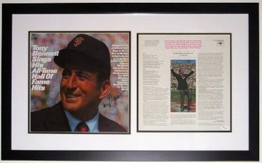 Tony Bennett Signed Greatest Hits Album - JSA COA Authenticated - Professionally Framed
