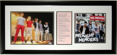 One Direction Group Signed 11x14 Tour Photo - PSA DNA COA Authenticated -  Professionally Framed & Album 34x16