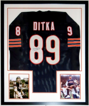 Mike Ditka Signed Chicago Bears Jersey - JSA COA Authenticated - Professionally Framed & Super Bowl 8x10 Photo 34x42