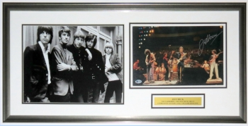 Jeff Beck Signed Yardbird Tour Photo Compilation - Beckett Authentication Services COA Authenticated- Professionally Framed & Plate