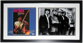 Jeff Beck Signed Album & 11x14 Photo Compilation - PSA DNA COA Authenticated - Professionally Framed 30x18