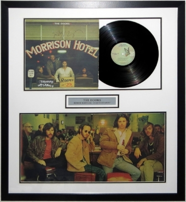 Robby Krieger Signed The Doors Morrison Hotel Album Compilation - PSA DNA COA Authenticated - Professionally Framed & Plate 32x32