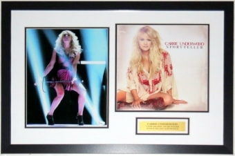 Carrie Underwood Signed 11x14 Tour Photo & Storyteller Album Compilation - JSA COA Authenticated - Professionally Framed & Plate