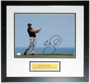 Jason Day Autographed 11x14 Photo - JSA COA Authenticated - Professionally Framed & Plate
