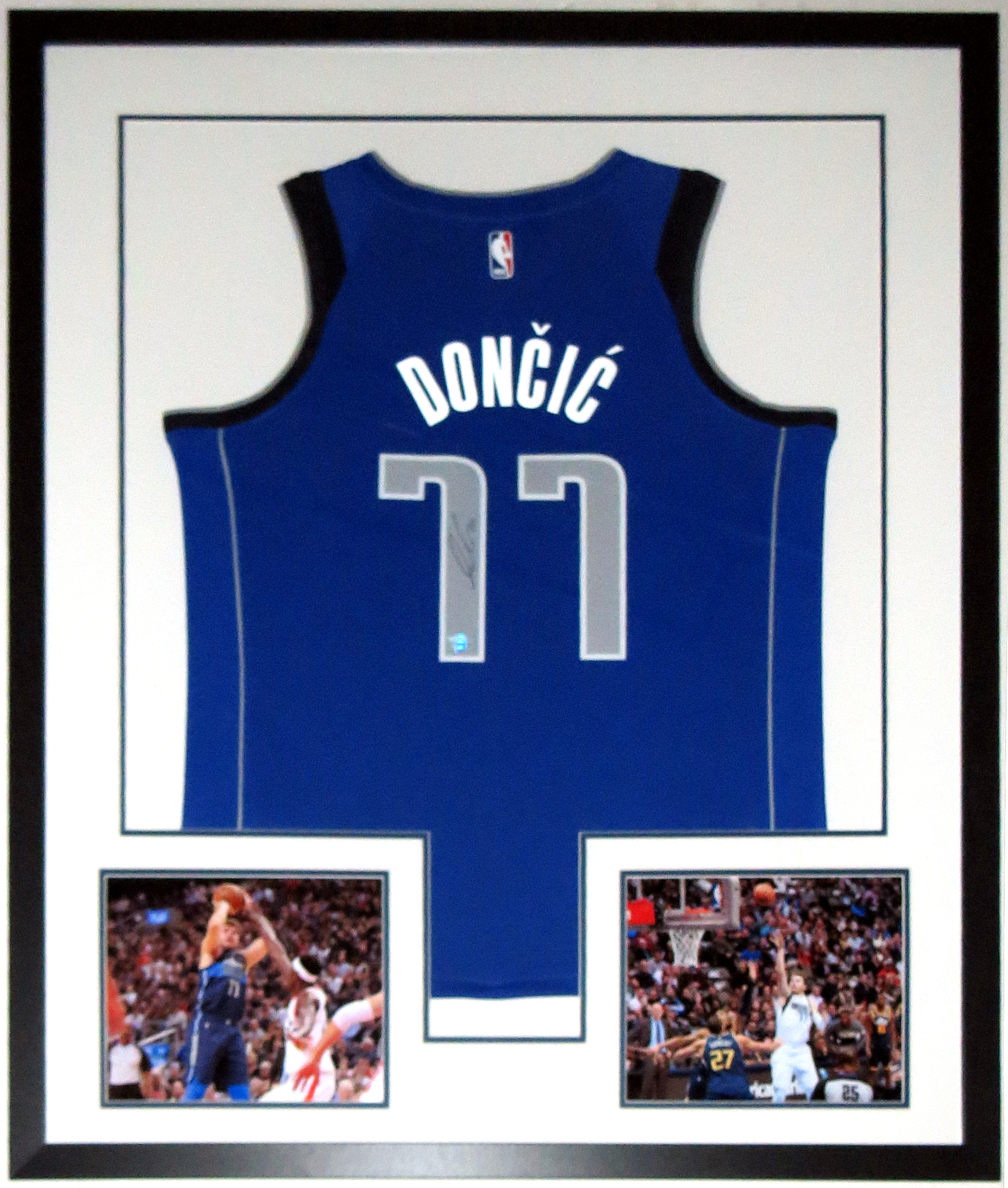 Luka Doncic Autographed Nike Dallas Mavericks Jersey - Fanatics COA Authenticated - Professionally Framed & 2 Rookie Year 8x10 Photo