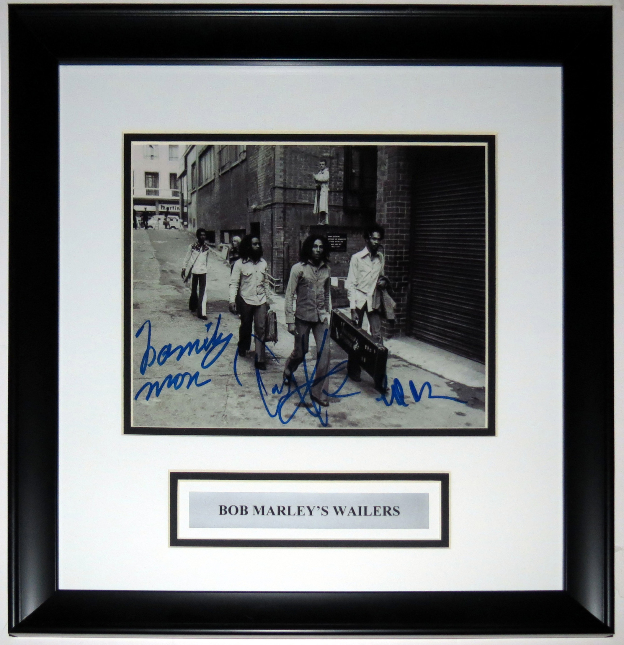 Bob Marley's Wailers Group Signed 8x10 Photo - Professionally Framed & Plate