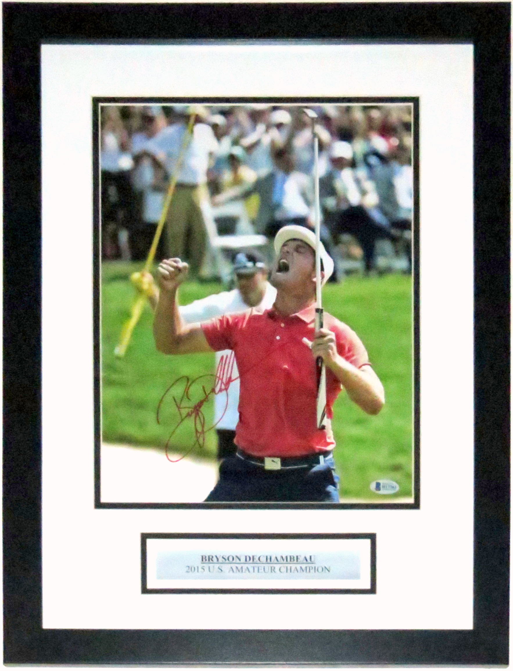 Bryson DeChambeau Signed  Memorial Tournament 11x14 Photo Beckett BAS COA Authenticated - Professionally Framed & Plate