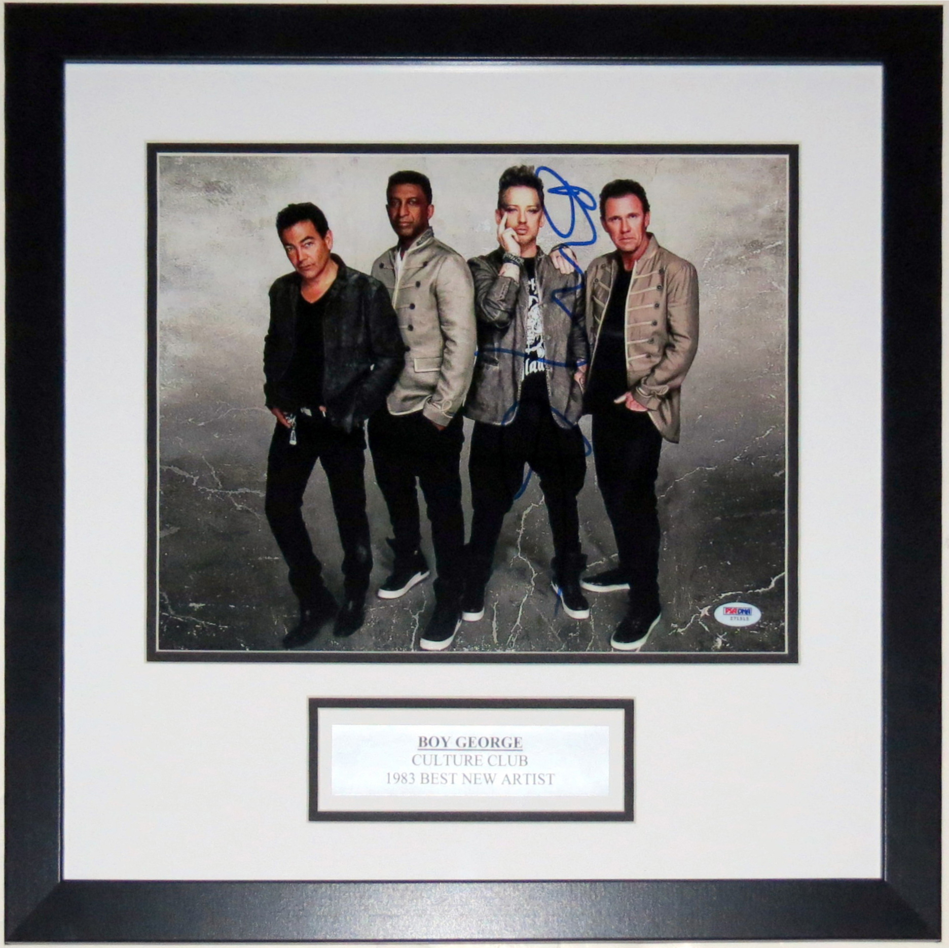 Boy George Signed Culture Club 11x14 Tour Photo - PSA DNA COA Authenticated - Professionally Framed & Plate