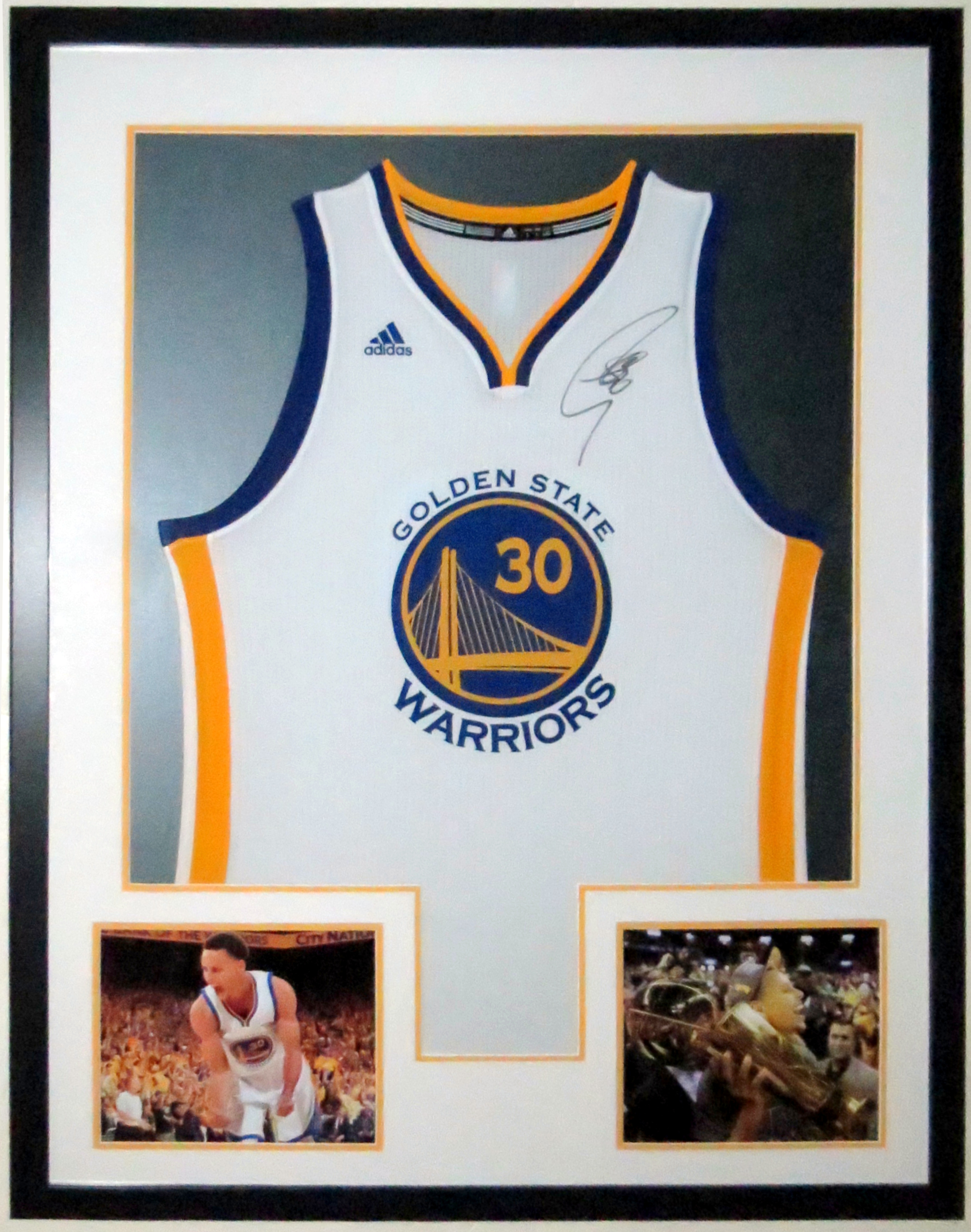 Stephen Curry Autographed Golden State Warriors Jersey - PSA DNA COA Authenticated -  Professionally Framed & NBA Finals 8x10 Photo 34x42