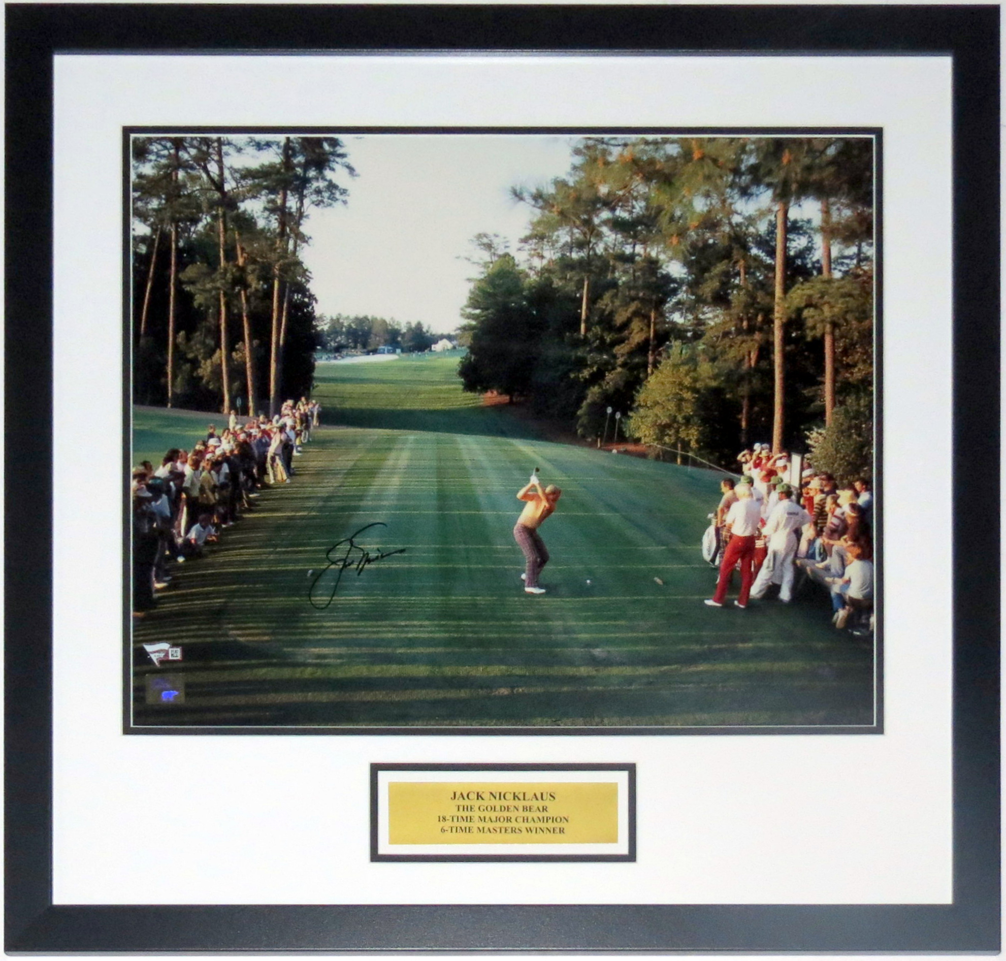 Jack Nicklaus Signed 1986 Augusta Masters 18th Hole 16x20 Photo - Fanatics COA Authenticated - Professionally Framed & Plate