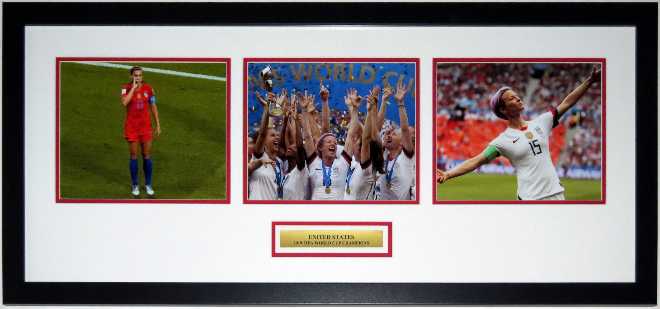 Team USA 2019 World Cup Champions 3 8x10 Photo Compilation - Professionally Framed & Plate