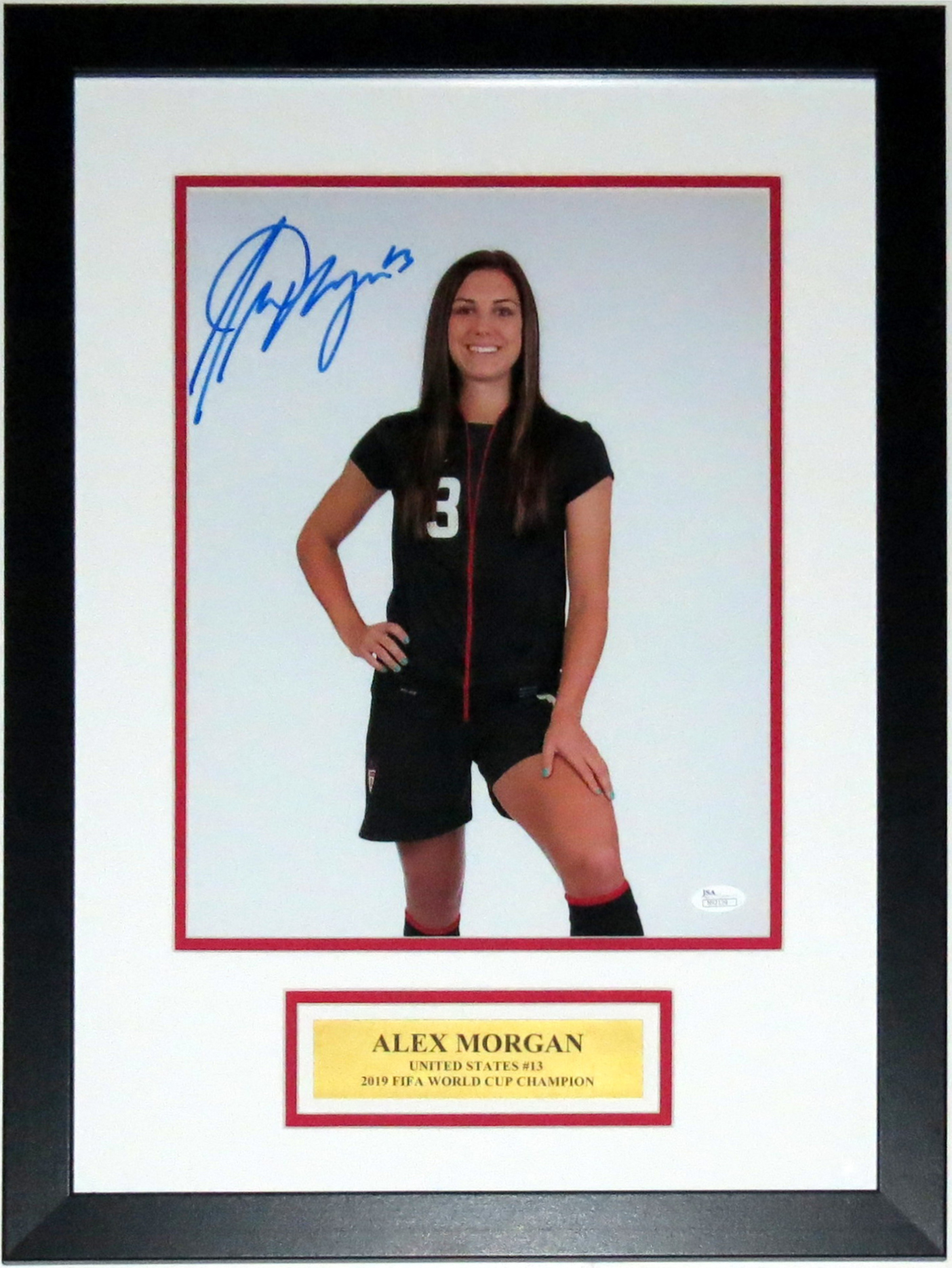 Alex Morgan Signed 2019 Team USA World Cup 11x14 Photo - JSA COA Authenticated - Professionally Framed & Plate