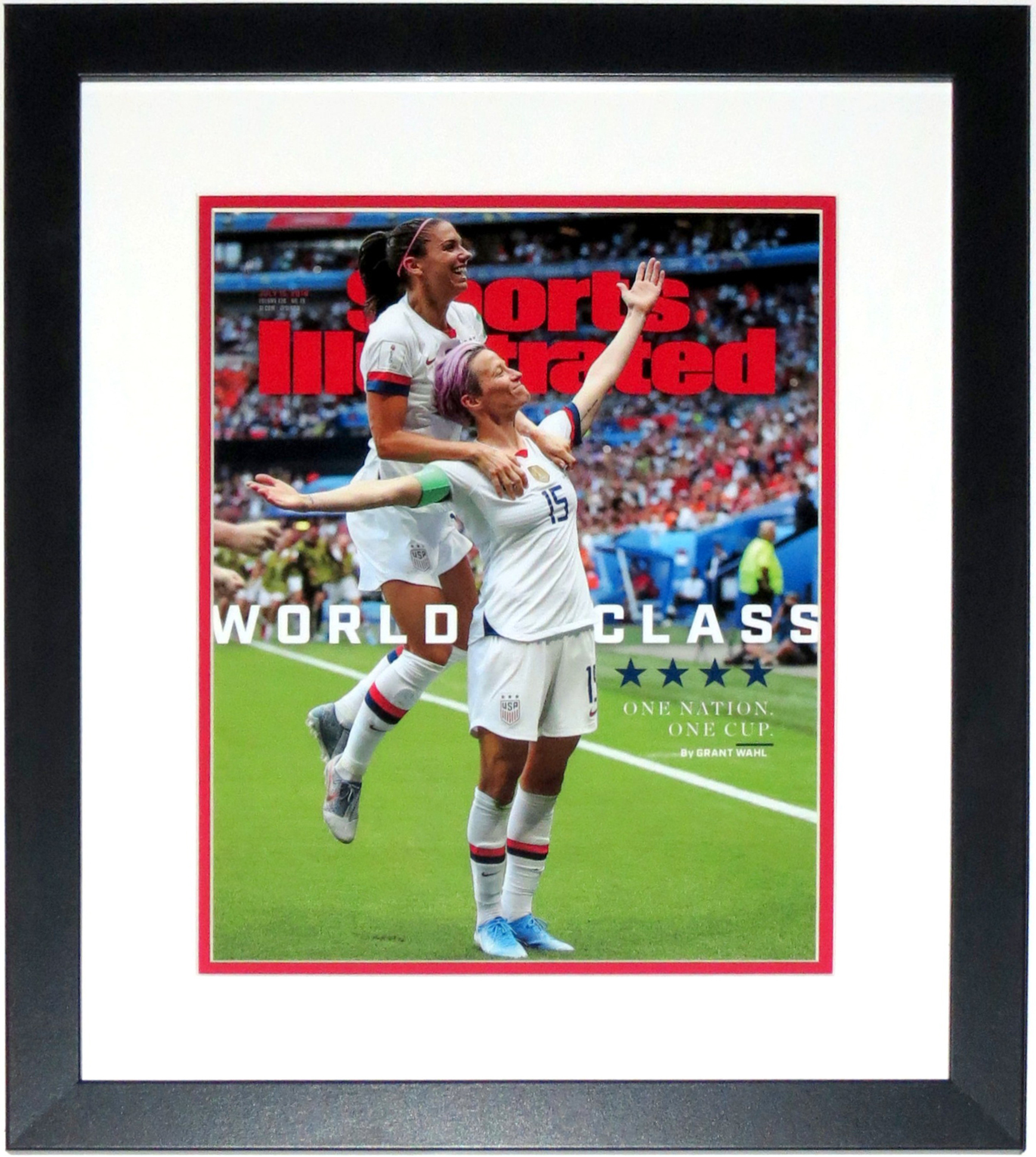Megan Rapinoe & Alex Morgan Sports Illustrated 2019 World Cup 11x14 Cover Photo  - July 15th 2019 - Professionally Framed