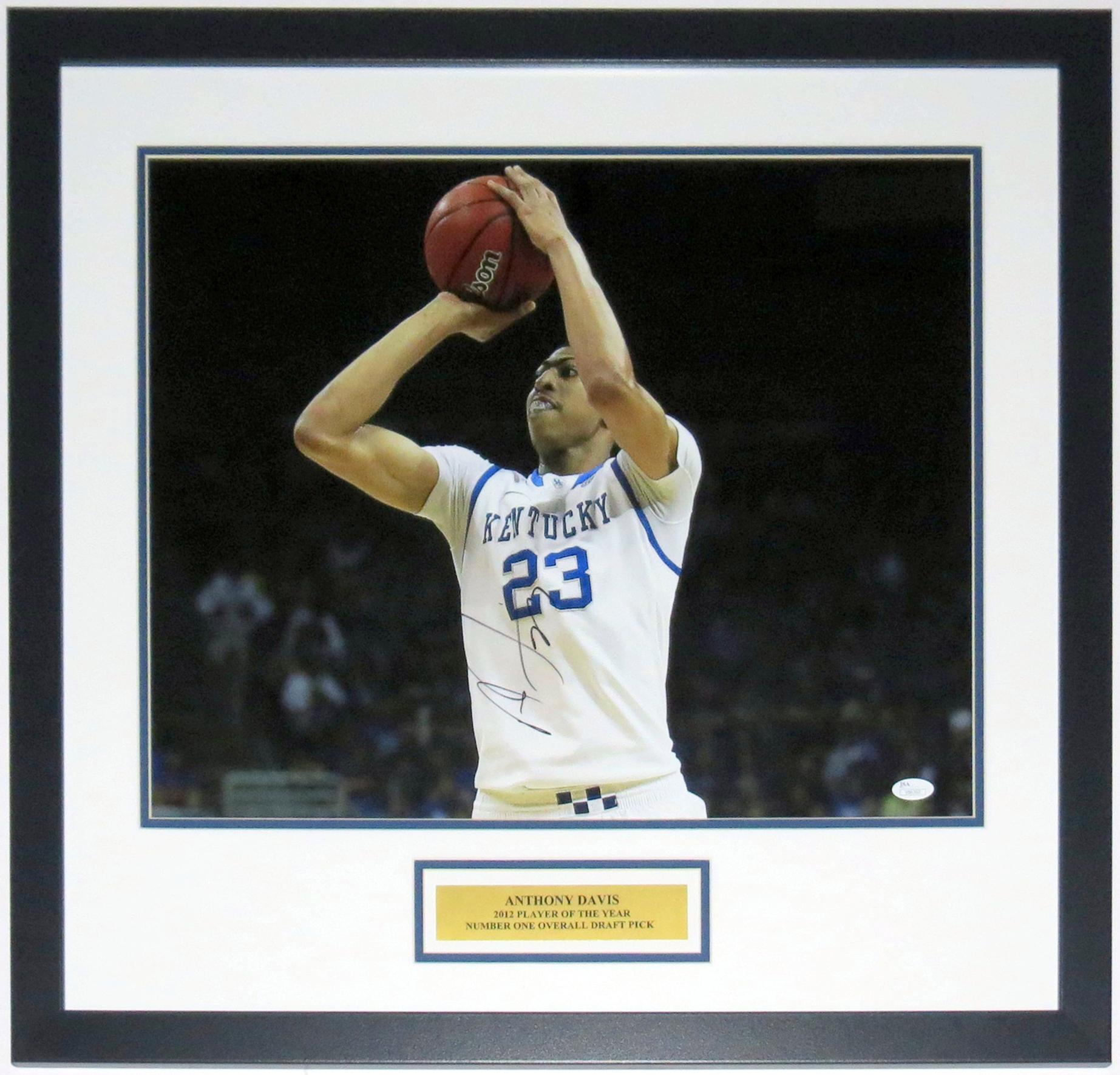 Anthony Davis Kentucky Wildcats Autographed 16x20 Photo - JSA COA Authenticated - Professionally Framed & Plate