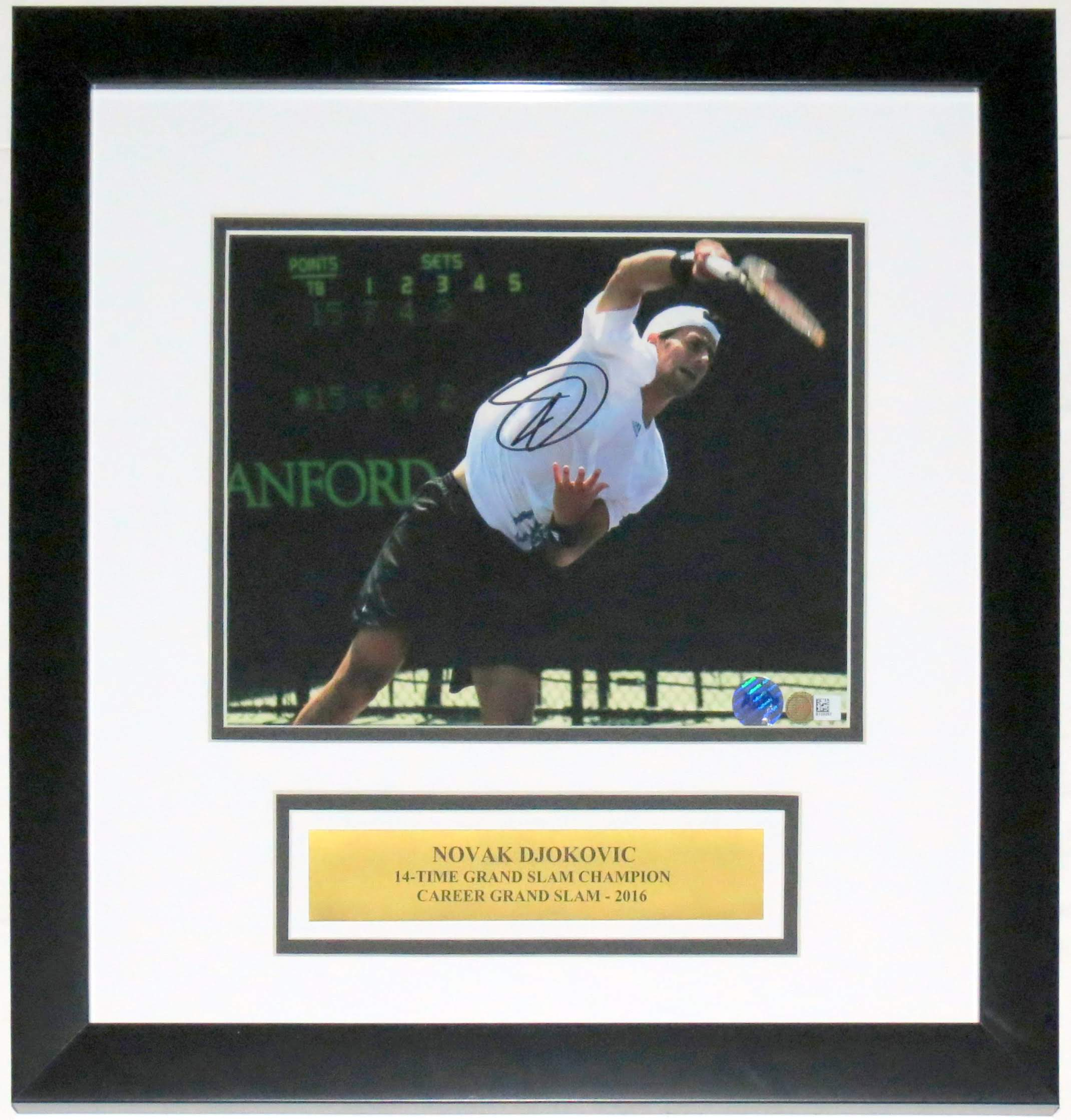Novak Djokovic Signed 8x10 Photo - BSI COA Authenticated - Professionally Framed & Plate