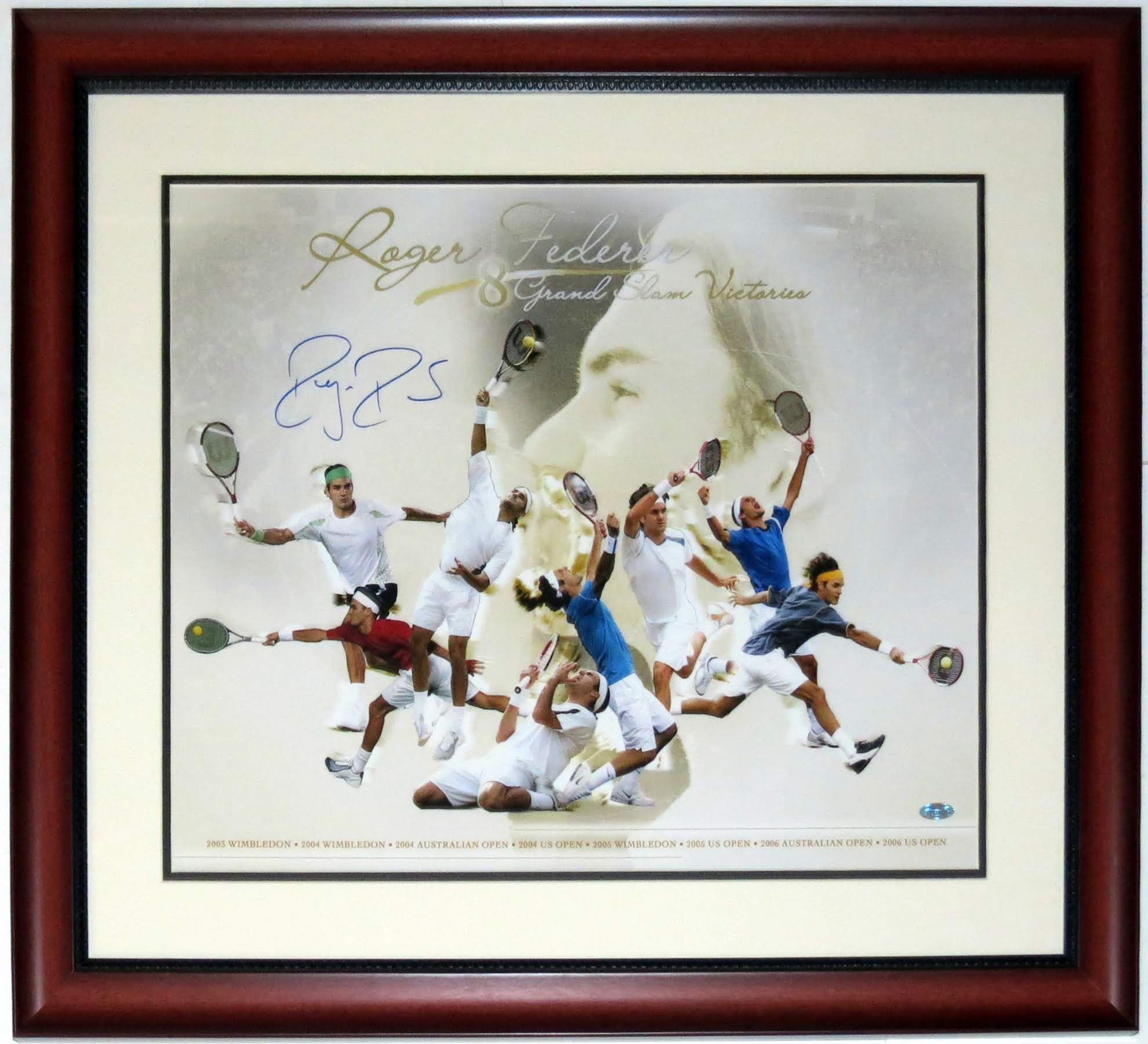 Roger Federer Signed 16x20 Photo - Steiner Sports COA Authenticated - Professionally Framed