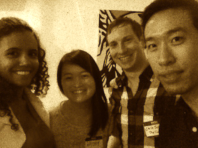 Our  StrategyHack  team:  Gladys Henriquez , Kathy Cheng , Chris Sparks , and  myself . Photo via Gladys Henriquez.