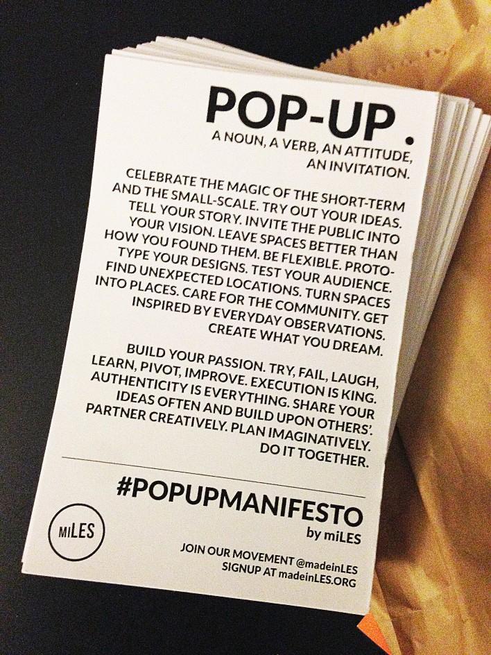We are co-authors of the MiLES #PopUpManifesto.
